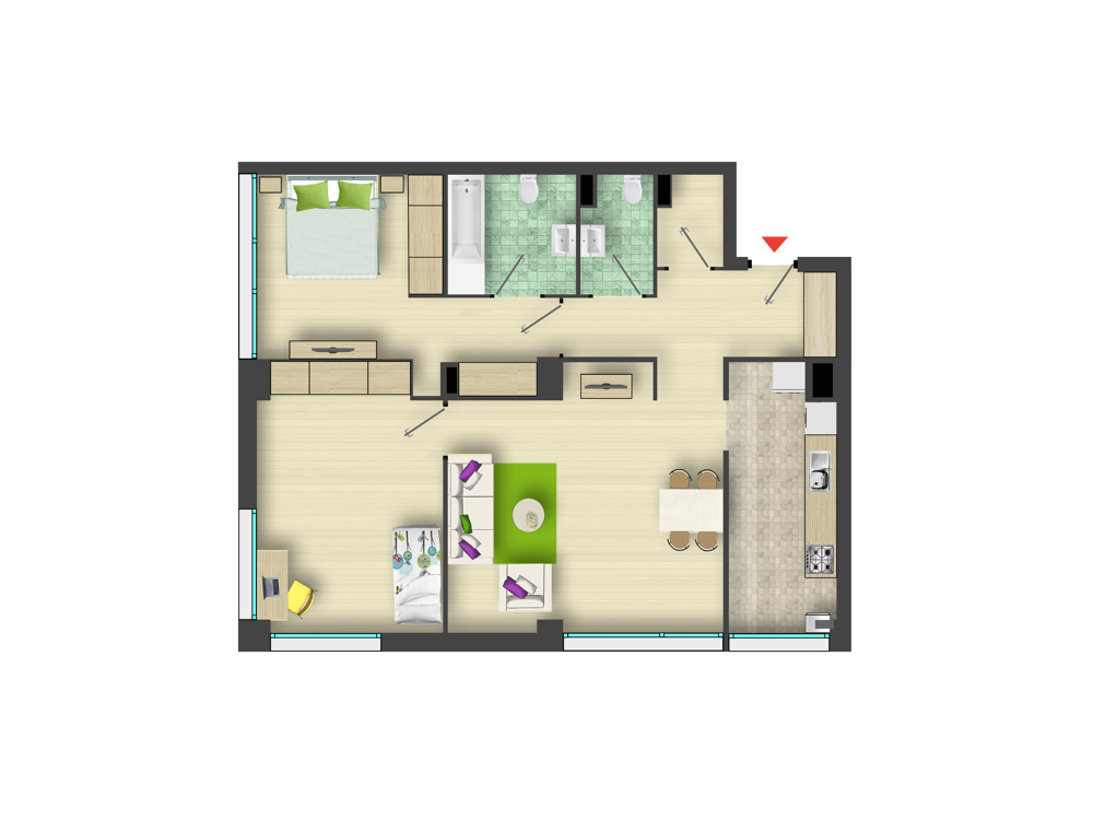 Apartment for sale recommended by ARED